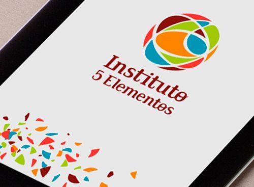 Criação do Logotipo do Instituto 5 Elementos - Aplicação